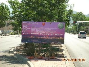 Project Sign On Lomas