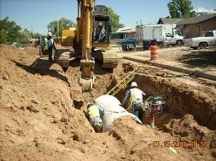 Laying Down Storm Drain on Morris
