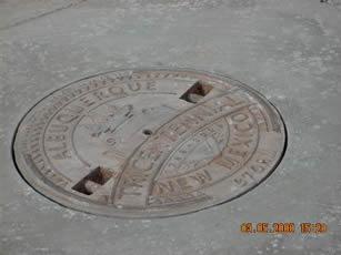 Odelia Tricentennial Manhole Cover