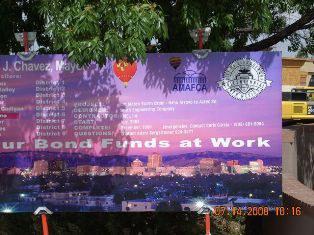 San Mateo Hahn Project Sign