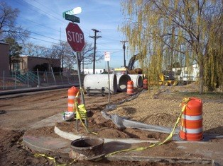 San Mateo Pl- Pipe lines at Cutler and Madeira