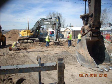 Excavation on Mountain St