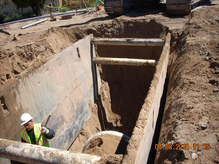 Pipe in Trench