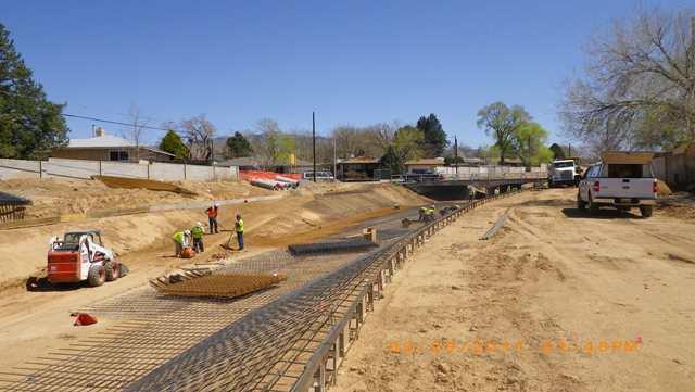 Lining work west of san pedro bridge