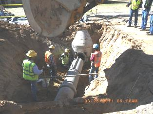 Installing a manhole