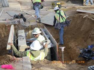 Installing stormdrain Inlet on Chico st NE