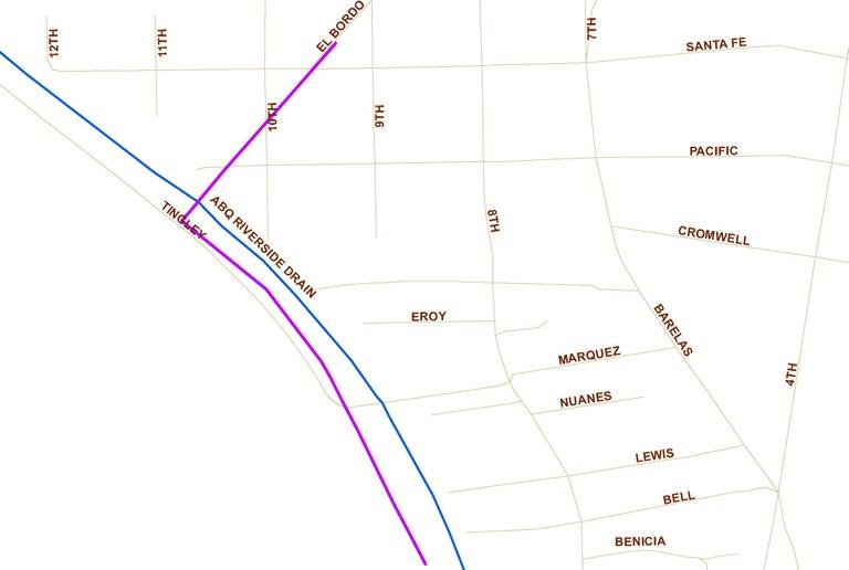 El Bordo Location Map