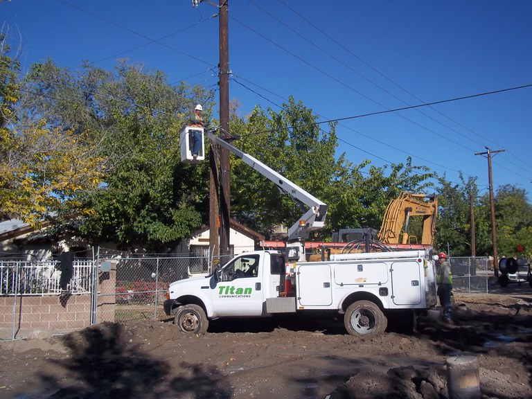 Relocating power lines