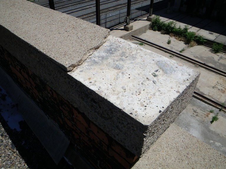 Deteriorated Parapet 2
