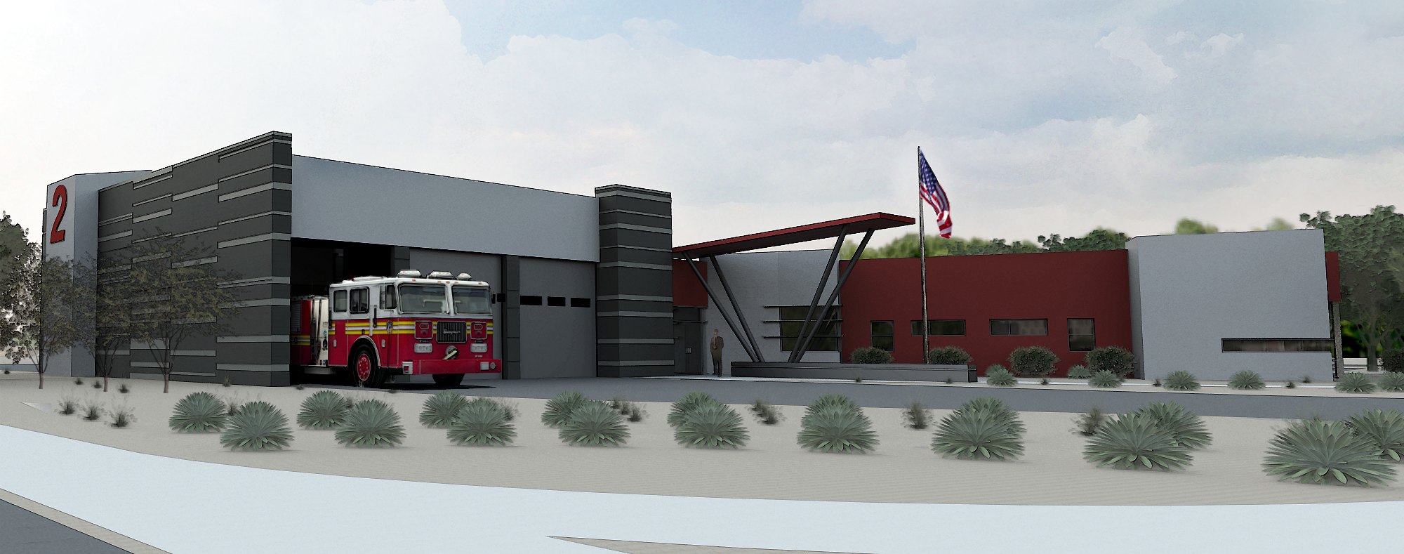 Fire Station Two Rendering