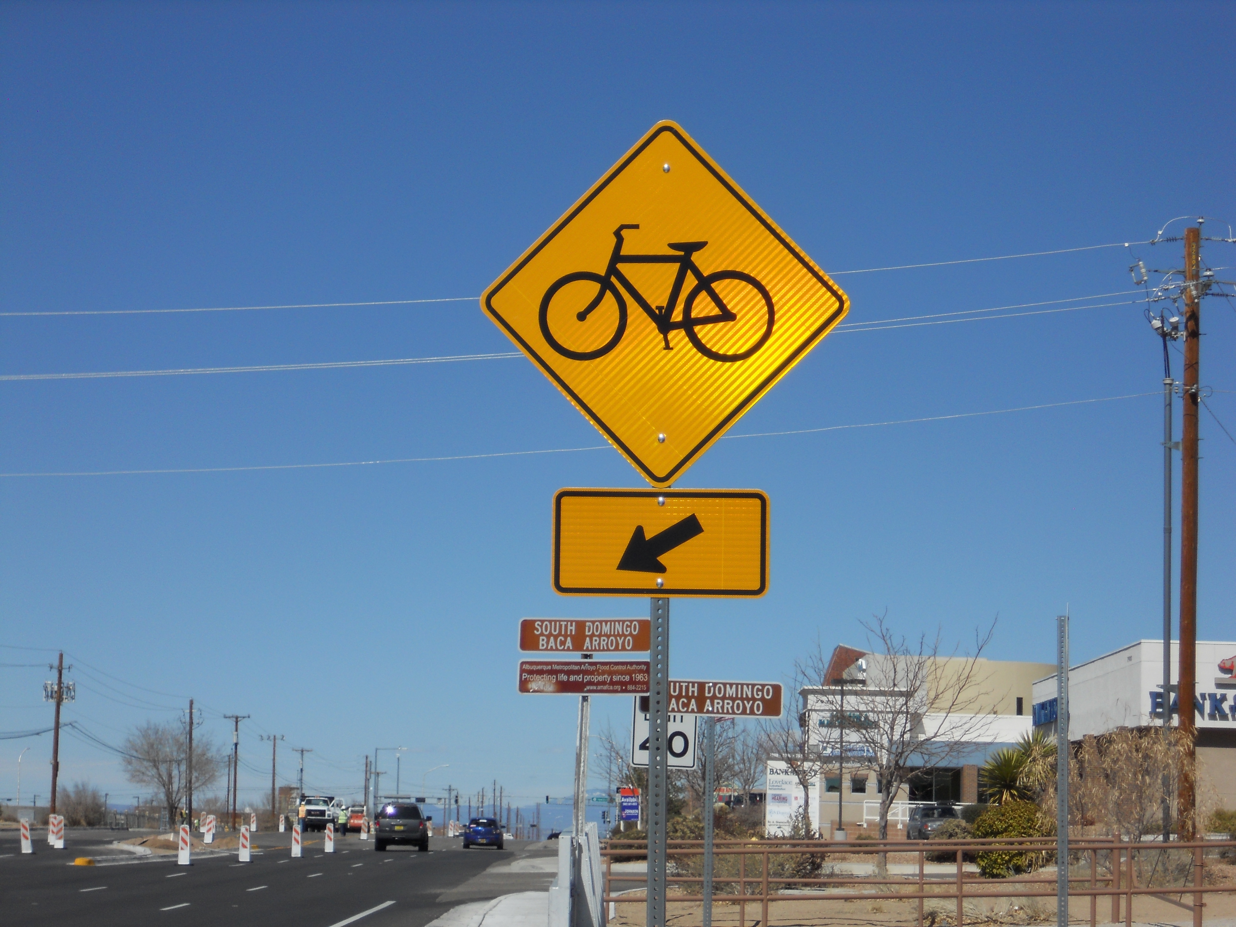 Bicycle Cross Sign