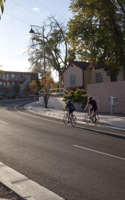Bicyclists in Albuquerque