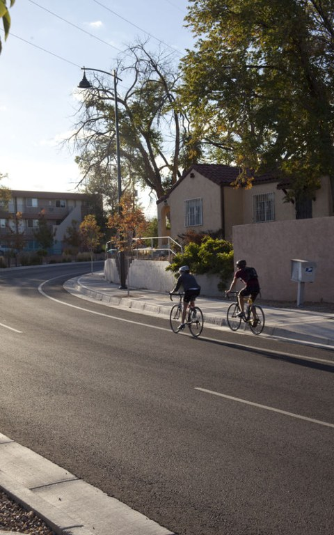 Bicyclists in Albuquerque