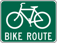 Indicate to bicyclists that they are on a designated bikeway. Make motorists aware of the bicycle route.