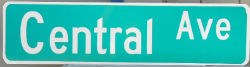 Central Avenue Street Sign Image