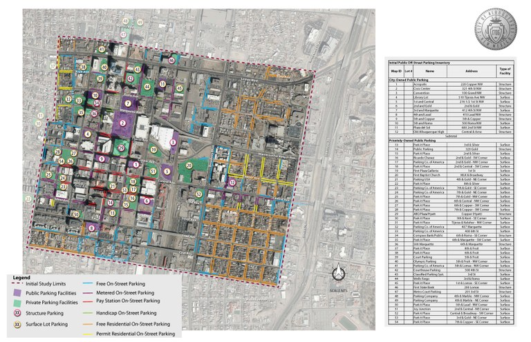Downtown Parking Map IMAGE