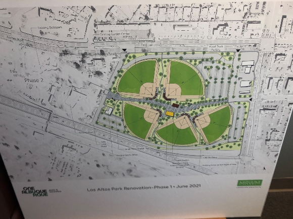 A rendering of what the softball fields at Los Altos Park will look like once completed.