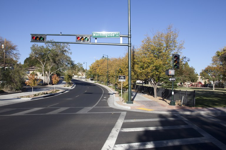 Image of a intersection at Morningside.