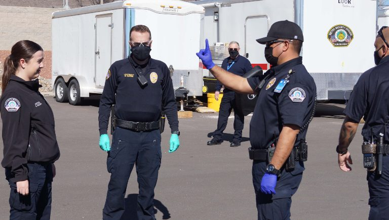Metro Security Recruits performing a test.