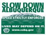 Slow Down Albuquerque Image