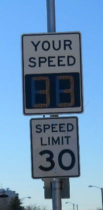 Speed Radar Sign Image