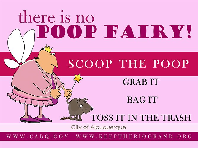 Campaign image for 'There is no Poop Fairy.'
