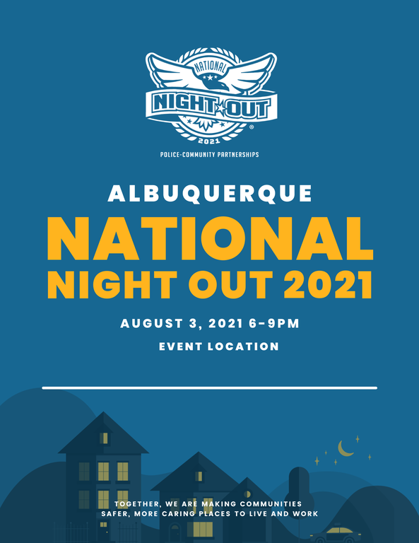 An image of the 2021 National Night Out Flier Template