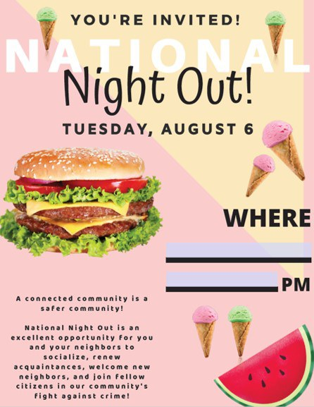 2019 National Night Out Flier Image