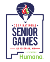 The logo of the 2019 National Senior Games.