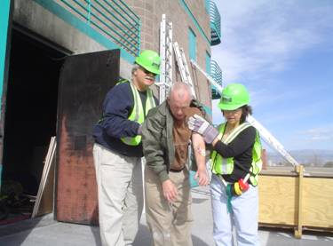 CERT members providing assistance during an exercise.