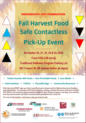 EVENT UPDATE: Fall Harvest Food Distribution Curbside Pick-Up Event (SOLD OUT)