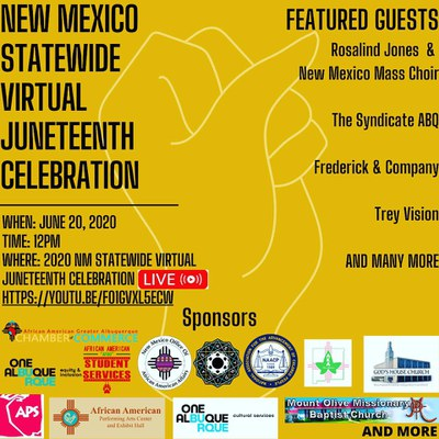 New Mexico Statewide Virtual Juneteenth Celebration