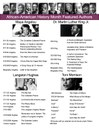 African American History Month Featured Authors