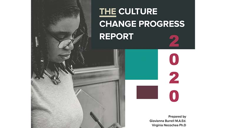 Cover of the 2020 Culture Change Report
