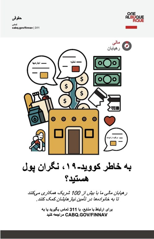 Financial Navigators poster in Farsi