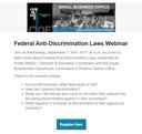 Federal Anti-Discrimination Laws Webinar