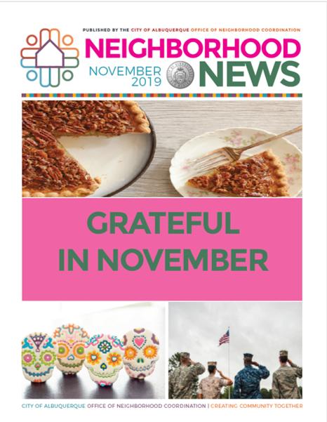 ONC Newsletter Cover: Nov. 2019