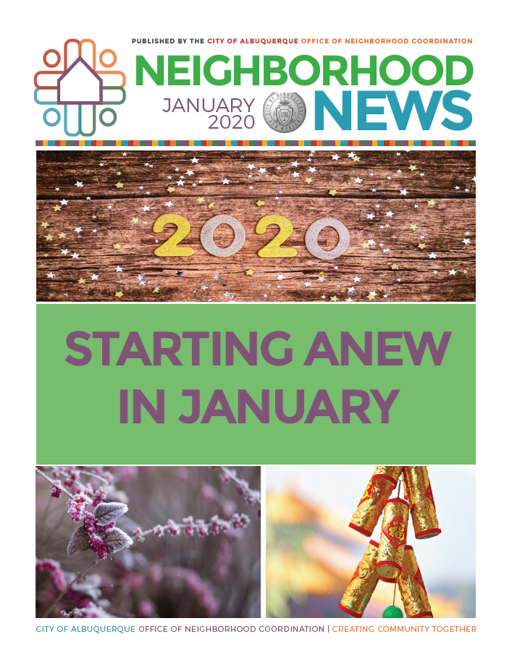 ONC Newsletter Cover: Jan. 2020