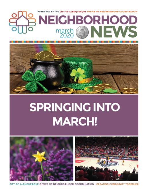 March 2020 Neighborhood Newsletter Cover