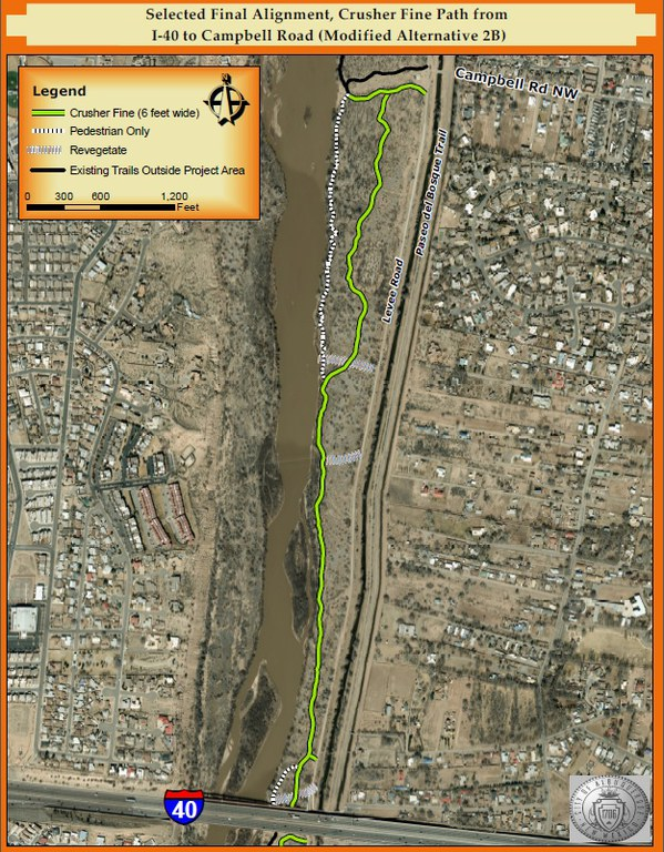 140 to Campbell Map bosque