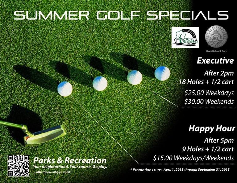 2013 Summer Golf Specials