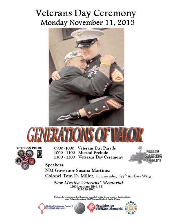 Veterans Day at NM Vets Memorial