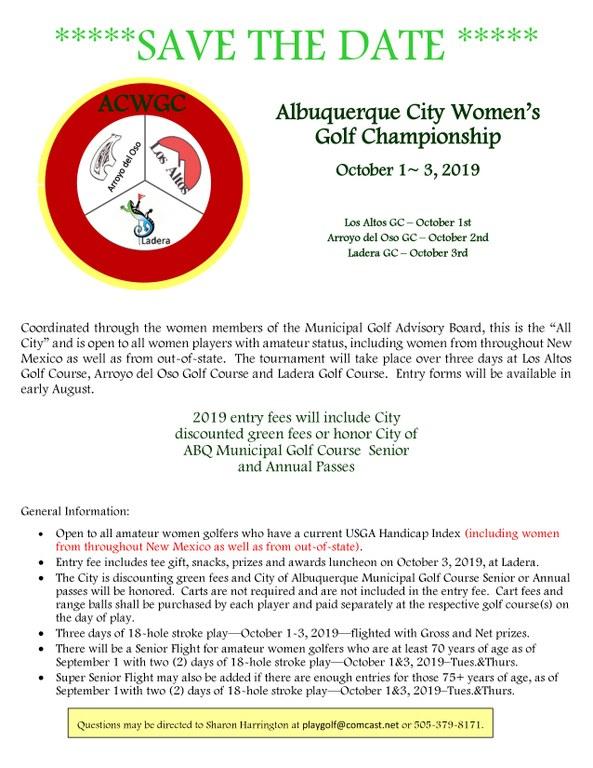 2019 Albuquerque City Women's Golf Championships