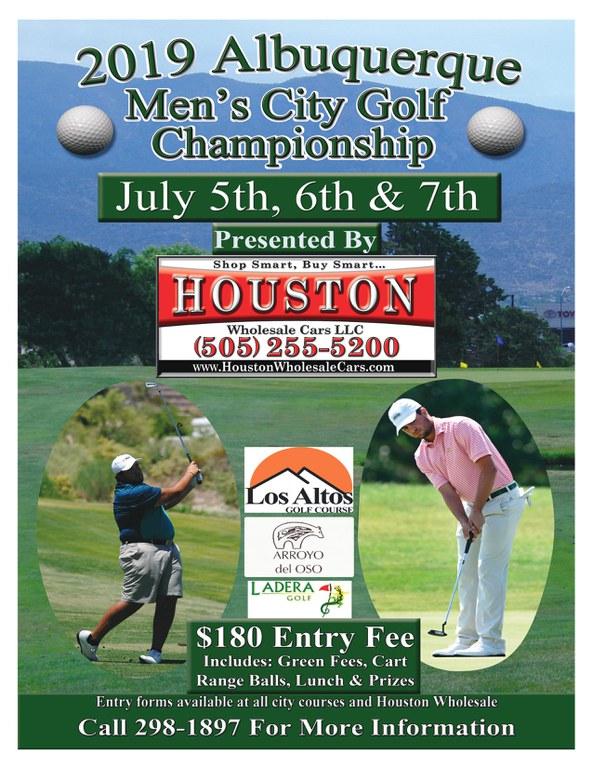 2019 Men's City Golf Championships Flyer
