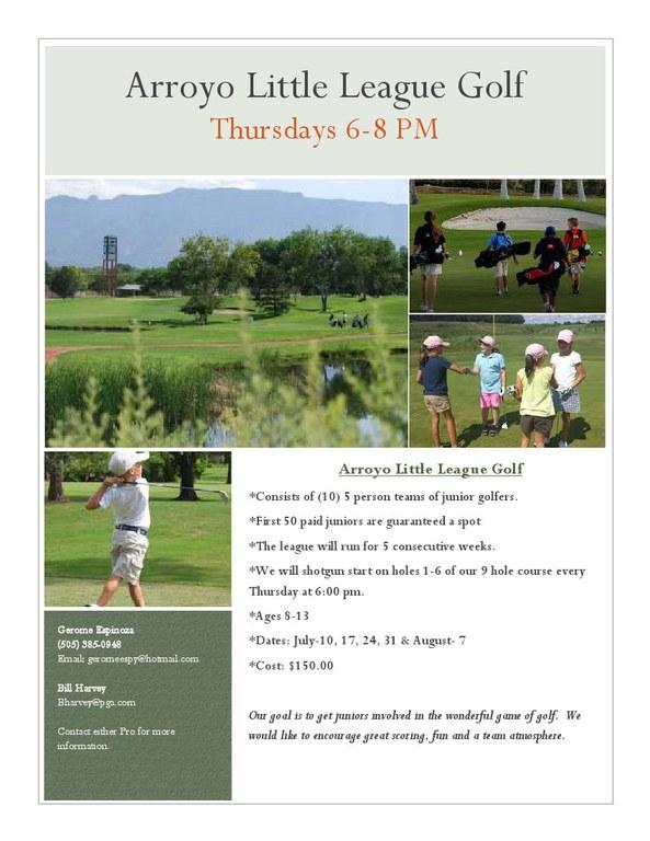 Arroyo del Oso Youth Golf Camp 2014