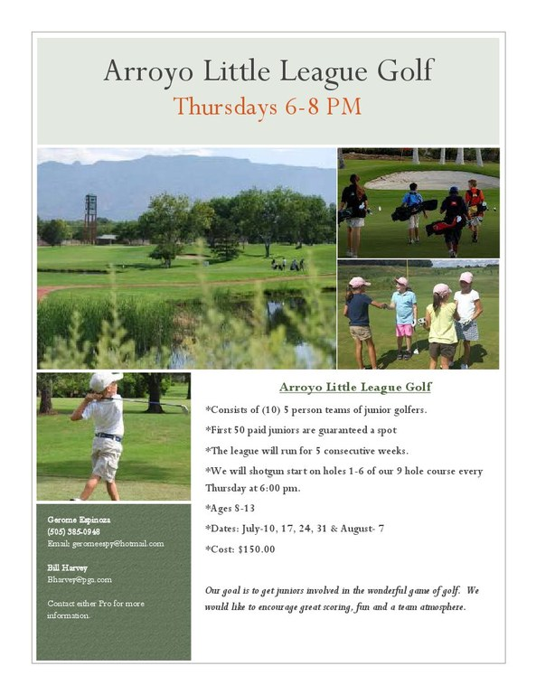 Arroyo del Oso Youth Golf Camp 2014