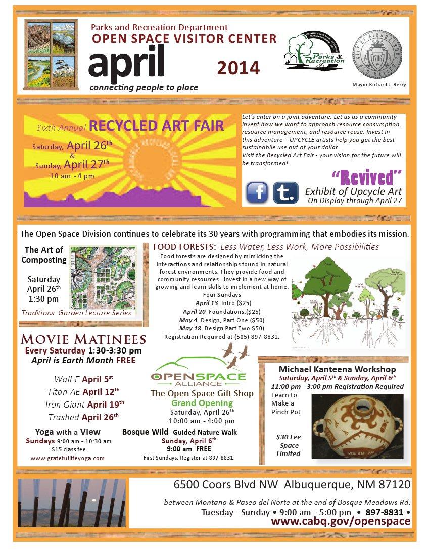 OSVC April Calendar of Events