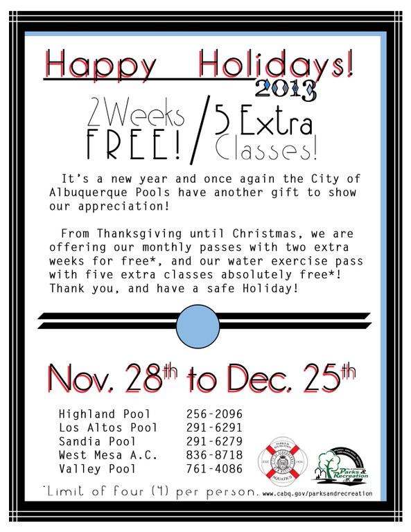 Aquatics 2013 Holiday Promotion