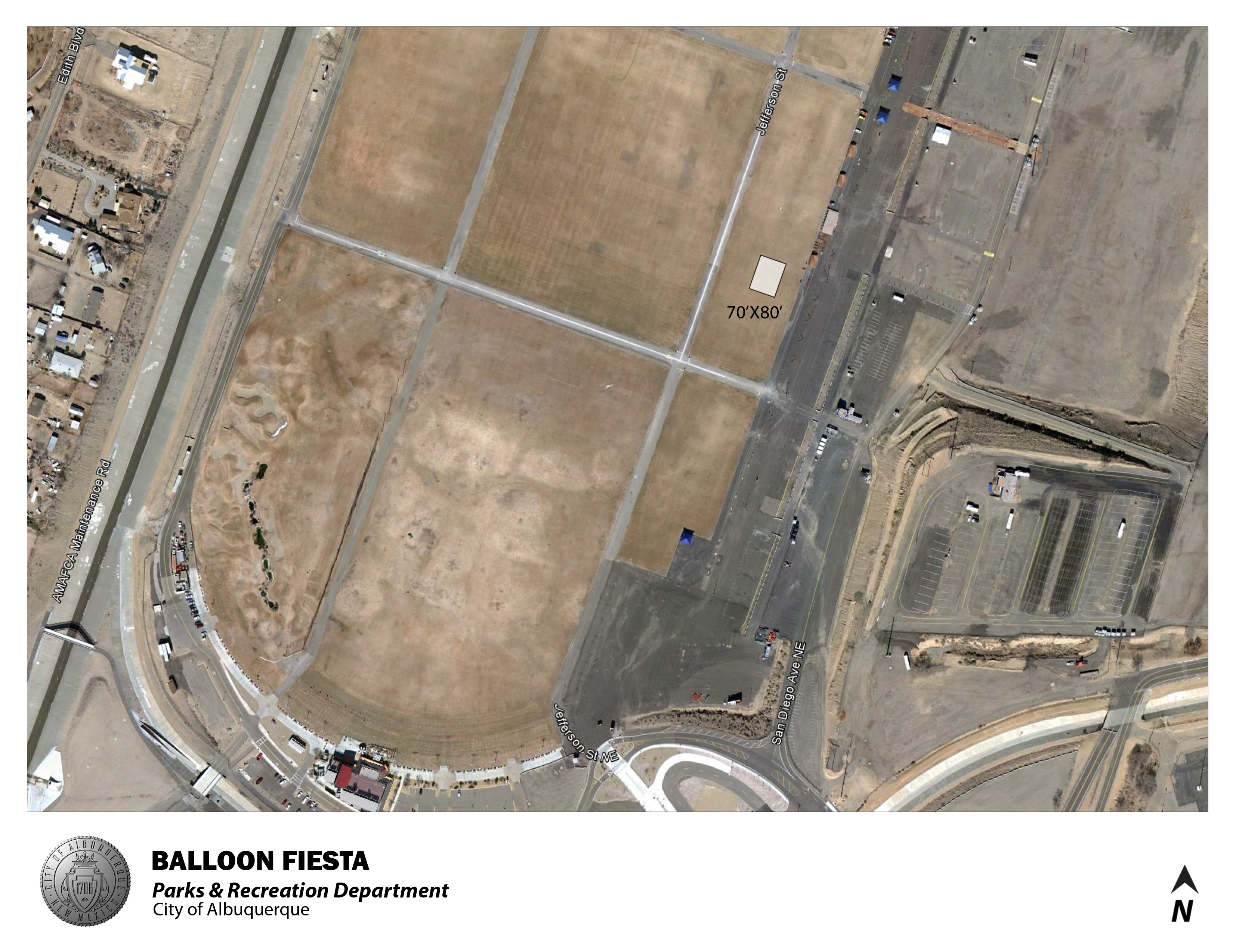 Balloon Fiesta Park Jumper Map 8/2012