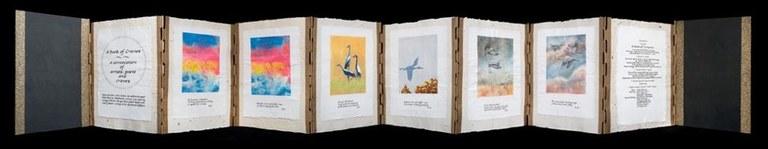 Book of cranes open
